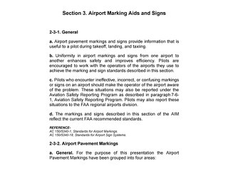 Airport Marking Aids and Signs