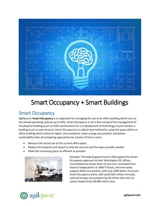 Smart Occupancy + Smart Buildings Workplace Strategy