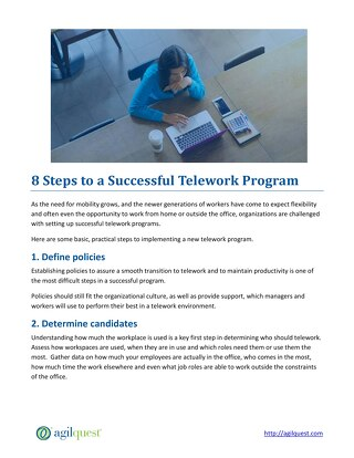 8 Steps to a Successful Telework Program