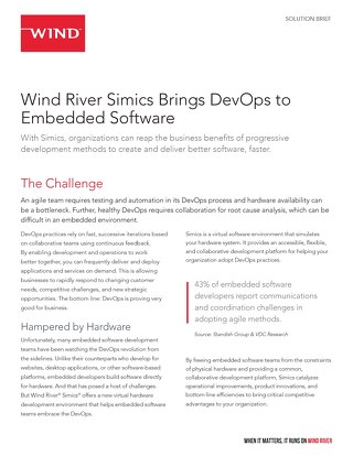 Simics Brings Agile Practices to Embedded Software