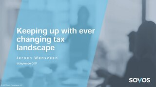Keeping Up With Ever-Changing Tax Landscape