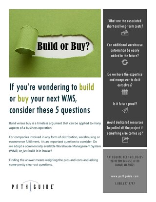 Your Next WMS: Build It or Buy It?