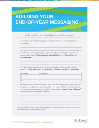 End-of-Year Building Messaging Worksheet