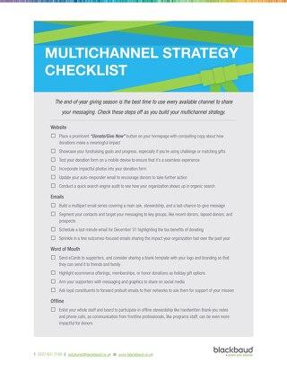 End-of-Year Multichannel Checklist