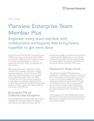 Planview Enterprise Team Member Plus