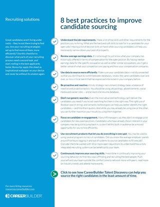 Candidate Sourcing Checklist