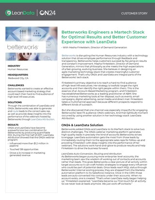 BetterWorks Case Study