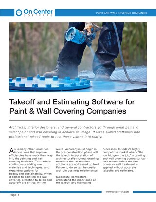 Takeoff and Estimating for Paint & Wall Covering Companies