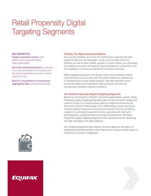 Retail Propensity Digital Targeting Segments
