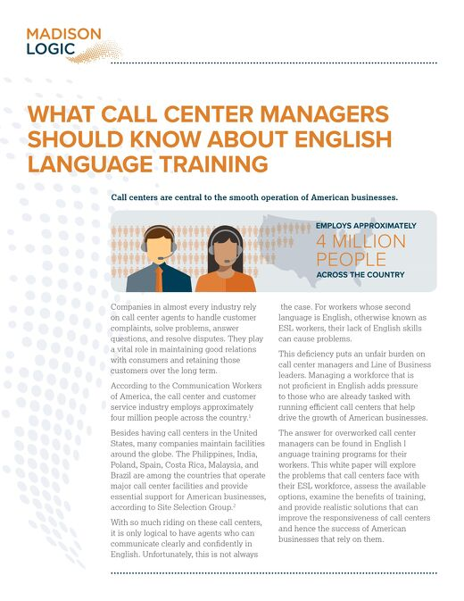 What Call Center Managers Should Know About English Language Training