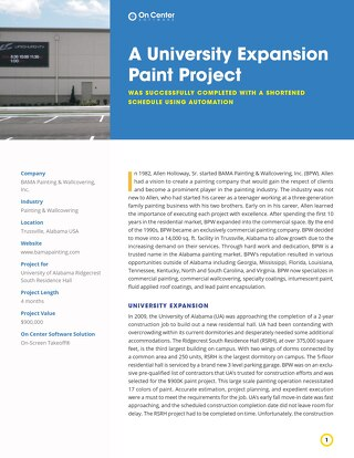 A University Expansion Paint Project