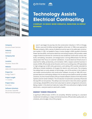 Technology Assists Electrical Contracting