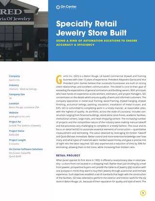 Specialty Retail Jewelry Store Built