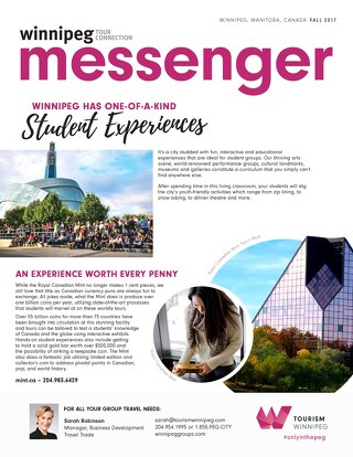 Winnipeg Tour Connection Messenger - Fall 2017