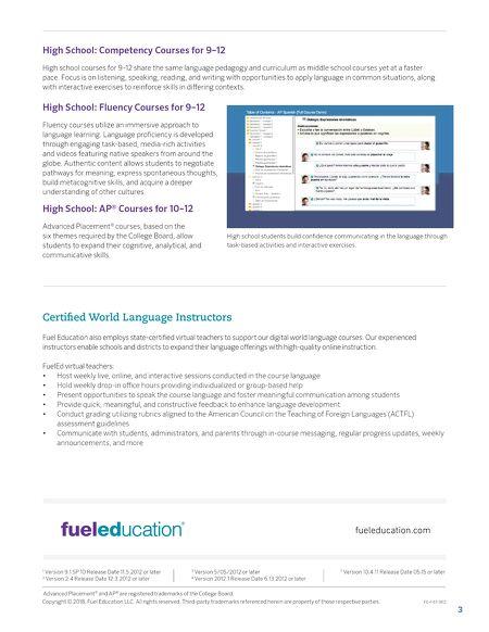 Brochures Middlebury Interactive World Languages Curriculum Flyer - World language curriculum