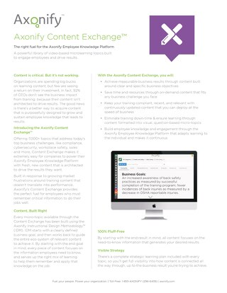 Axonify Content Exchange