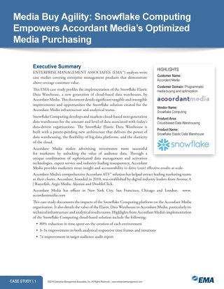 Accordant Media: Optimizing Media Purchase with Snowflake