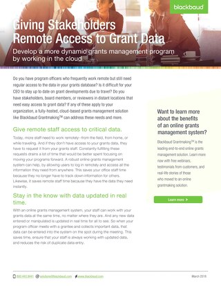 Access your data remotely