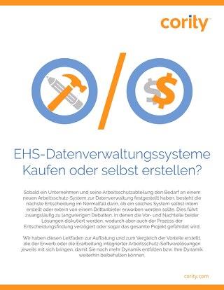 EHS-Datenverwaltungssysteme Kaufen oder selbst erstellen?