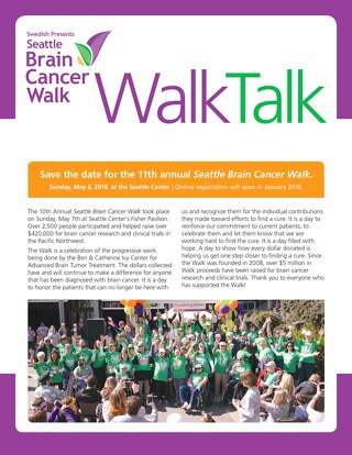 2017 Seattle Brain Cancer WalkTalk