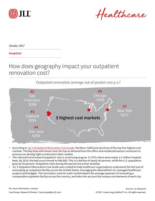 How does geography impact your outpatient renovation cost?
