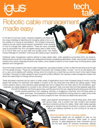 Robotic Cable Management Made Easy