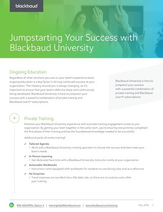 Blackbaud University Positioning Datasheet