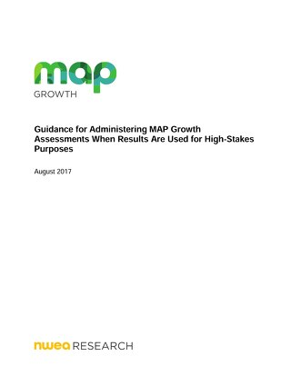 Guidance for Administering MAP Growth for High Stakes