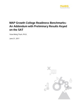 MAP Growth College Readiness Benchmarks