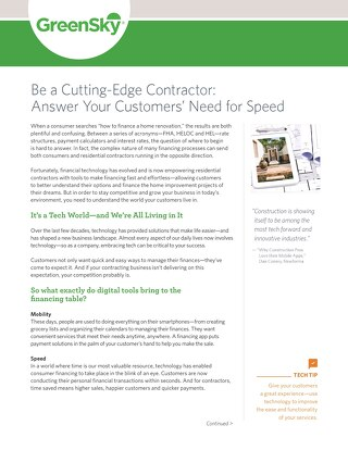 Be a Cutting-Edge Contractor