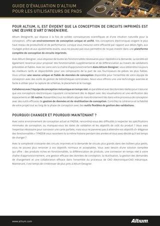 GUIDE D'ÉVALUATION D'ALTIUMPOUR LES UTILISATEURS DE PADS