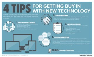 4 Tips for Getting Buy-In with New Tech Infographic