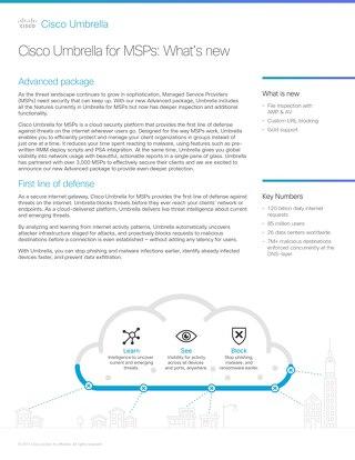 Cisco Umbrella for MSPs: what's new