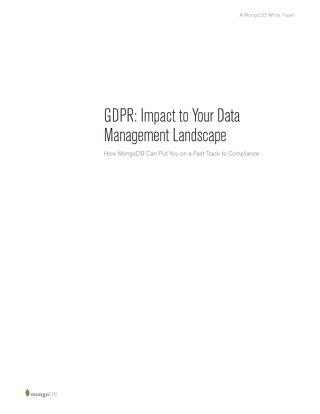 GDPR: Impact to Your Data Management Landscape