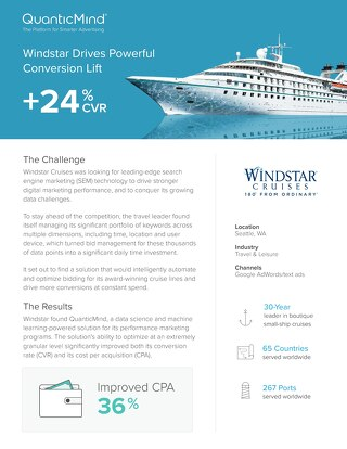 QuanticMind Customer Success Story - Windstar Cruises