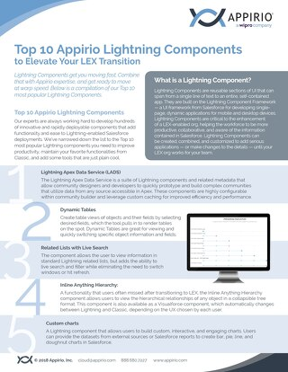 Top 10 Lightning Components to Elevate Your LEX Transition