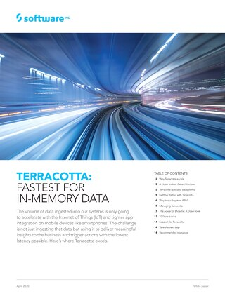 Terracotta DB: Fastest for In-Memory Data