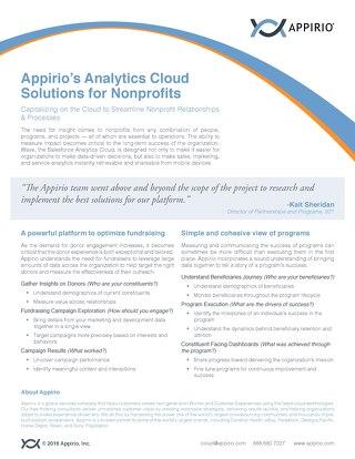 Appirio's Analytics Cloud Solutions for Nonprofits
