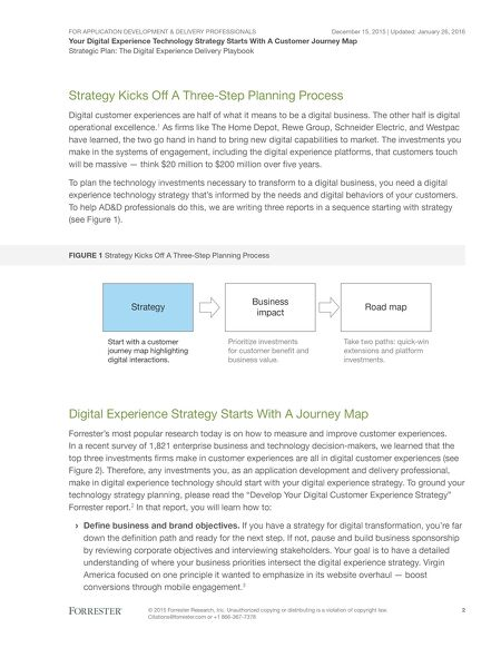 Resources Forrester Your Digital Experience Technology Strategy - Forrester customer journey mapping