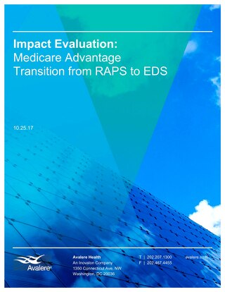 Impact Evaluation: Medicare Advantage Transition from RAPS to EDS