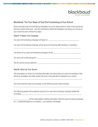 Blackbaud Year-End Fundraising Template