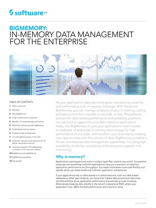 BigMemory: In-memory data management