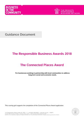 The Connected Places Award Guidance document 2018