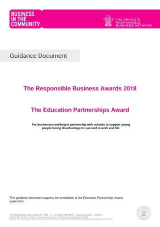 The Education Partnerships Award Guidance document 2018