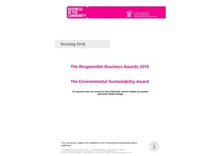 The Environmental Sustainability Award Scoring grid 2018