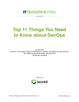 11 Things you need to know about DevOps