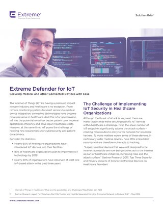 Extreme Defender for IoT