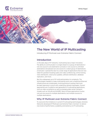 The New world of IP Multicasting