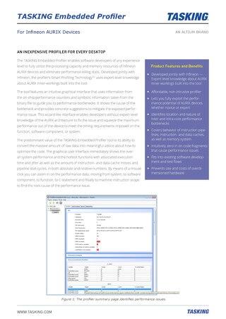 Embedded Profiler Datasheet