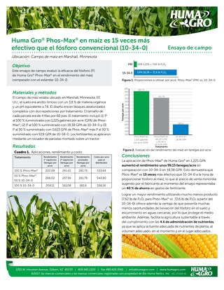 Super Phos Efficacy on Corn Field Study (HG) SPA